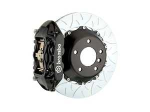 ES#2854859 - 2P3.9014A1 - Brembo GT Rear Big Brake Kit - 2 Piece Type 3 Rotors (380x28) - Featuring Black 4 piston calipers, stainless brake lines and Brembo Sport brake pads - Brembo - Audi