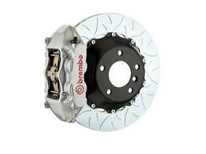 ES#2854861 - 2P3.9014A3 - Brembo GT Rear Big Brake Kit - 2 Piece Type 3 Rotors (380x28) - Featuring Silver 4 piston calipers, stainless brake lines and Brembo Sport brake pads - Brembo - Audi