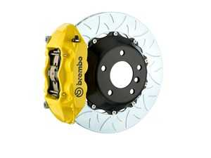 ES#2854862 - 2P3.9014A5 - Brembo GT Rear Big Brake Kit - 2 Piece Type 3 Rotors (380x28) - Featuring Yellow 4 piston calipers, stainless brake lines and Brembo Sport brake pads - Brembo - Audi