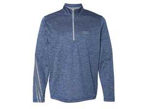 ES#3554688 - ACM2277NVYMD - Adidas Heathered 1/4 Zip - Navy - Mens Medium - This adidas Heathered Quarter-Zip is crafted to hit the course. - Genuine Volkswagen Audi - Audi