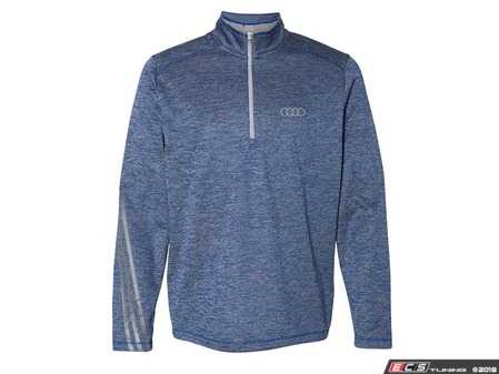 ES#3554686 - ACM2277NVY2X - Adidas Heathered 1/4 Zip - Navy - Mens 2XL - This adidas Heathered Quarter-Zip is crafted to hit the course. - Genuine Volkswagen Audi - Audi