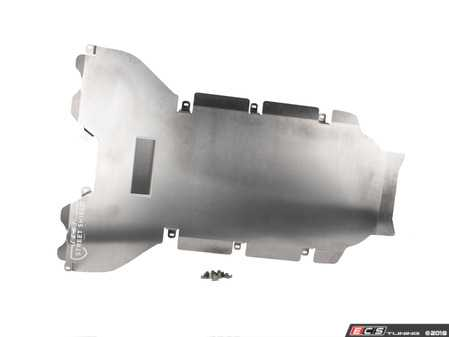 ES#3610310 - 023781ecs02KT - Audi B9 A4/S4 Tunnel Street Shield Aluminum Skid Plate - Protect your vehicle's tunnel and improve aerodynamics - ECS - Audi
