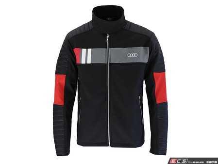 ES#3439962 - ACM2326BLK2X - Drifter Hybrid Jacket - Black - Mens 2XL - The Drifter Hybrid Jacket is a racing inspired soft-shell jacket. - Genuine Volkswagen Audi - Audi