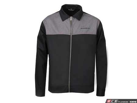 ES#3563056 - ACM2270BLK2X - quattro Kurbel Jacket - Black - Mens 2XL - The Rally Jacket is a vintage inspired, lightweight jacket created using durable polyester twill fabric. - Genuine Volkswagen Audi - Audi