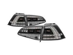 ES#3612001 - 5085412 - LED Tail Light Set - Black/Clear - Complete set of LED tail light assemblies - Plug & Play - Spyder - Volkswagen