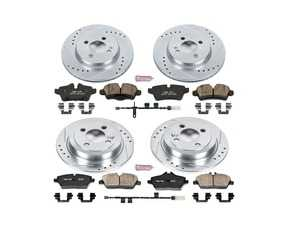 ES#3990441 - K7981 - Z23 Evolution Sport Performance Brake Service Kit - Front And Rear - Proven performance with minimal dust - Power Stop - MINI