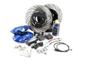 ES#3561410 - 053118ecsKT - ECS M Performance Rear Big Brake Kit - Blue - Upgrade to the F30 M Performance calipers with larger 2-piece rotors and stainless steel brake lines - ECS - BMW