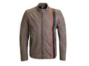 ES#3571962 - ACM2876TANXL - Heritage Leather Jacket - Tan - Mens XL - Something special for quality- and style-conscious Audi motorsport fans - a vintage-look leather jacket in Audi heritage design. - Genuine Volkswagen Audi - Audi