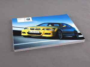 ES#13050 - 01410158512 - E46 M3 Coupe Owner's Manual - 2005 - Full of useful information and specifications - Genuine BMW - BMW