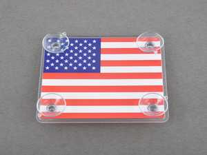 ES#3419258 - IP184 - Large Toll Pass / EZ Pass / Transponder Holder - FLAG US - Holds your toll pass transponder making it easy to move or remove - Go Badges - MINI