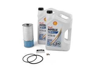 ES#3612639 - 0001802509KT4 - W123 & W126 Diesel Oil Change Kit 15w-40 - Everything you need to perform an engine oil service - Shell - Mercedes Benz