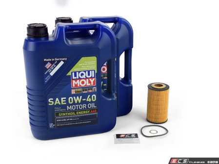 ES#3613102 - 99610722560KT3 -  Oil Change Kit Non Turbo 996/986 - Featuring LiquiMoly Synthoil Energy Engine Oil A40 (0w-40) - Liqui-Moly - Porsche