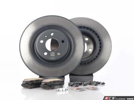 ES#2762578 - 4H0615601HKT6 - Rear Brake Service Kit - Featuring Genuine rotors and pads - Assembled By ECS - Audi