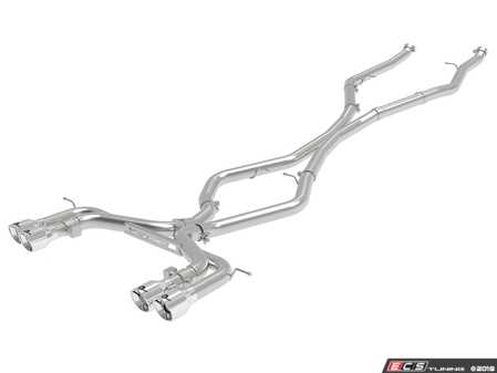 ES#3612869 - 49-36342-P - MACH Force-XP 3-1/2 IN 304 Stainless Steel Cat-Back Exhaust System w/o Muffler w/ Polished Tip  - Add power, sound and unique style to your BMW X5/X6 M with this cat-back system which produced gains of up to +20 horsepower and +33 lbs. x ft. torque - AFE - BMW