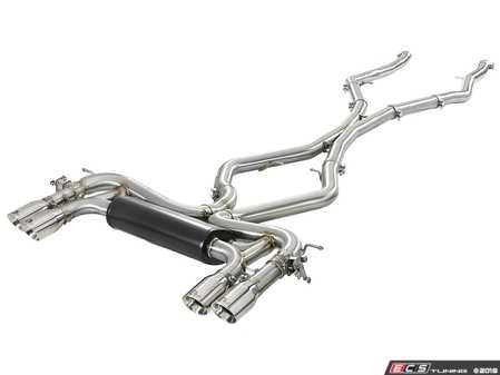 ES#3612867 - 49-36341-P - MACH Force-XP 3-1/2 IN 304 Stainless Steel Cat-Back Exhaust System w/ Polished Tip  - Add power, sound and unique style to your BMW X5/X6 M with this cat-back system which produced gains of up to +20 horsepower and +33 lbs. x ft. torque - AFE - BMW