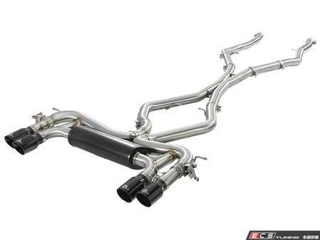 ES#3612866 - 49-36341-B - MACH Force-XP 3-1/2 IN 304 Stainless Steel Cat-Back Exhaust System w/ Black Tip  - Add power, sound and unique style to your BMW X5/X6 M with this cat-back system which produced gains of up to +20 horsepower and +33 lbs. x ft. torque - AFE - BMW