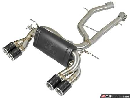 ES#3612862 - 49-36338-C - MACH Force-Xp 2-1/2in Stainless Steel Axle Back Exhaust System w/ Carbon Fiber Tips - This Axle-back exhaust system incorporates a factory style exhaust valve which uses the factory exhaust valve motor (not included). The valve helps regulate, direct and control the flow of exhaust gases by opening, closing, or partially closing. - AFE - BMW