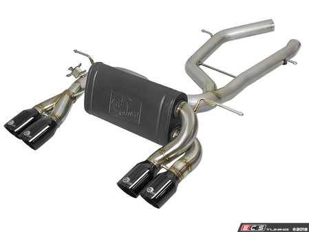 ES#3612861 - 49-36338-B - MACH Force-Xp 2-1/2in Stainless Steel Axle Back Exhaust System w/ Black Tips  - This axle-back exhaust system incorporates a factory style exhaust valve which uses the factory exhaust valve motor (not included). The valve helps regulate, direct and control the flow of exhaust gases by opening, closing, or partially closing. - AFE - BMW