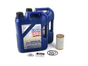 ES#3613165 - 0001802609kt4 - Oil Change Kit Liqui Moly Leichtlauf High Tech 5w-40 - Everything you need to perform an engine oil service - Liqui-Moly - Mercedes Benz
