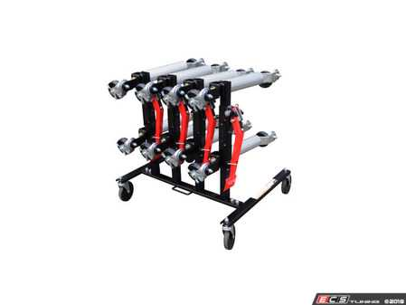 ES#3127996 - 7709D - Car Dolly Rack - This custom rack holds 4 Sunex 7708 Wheel Dollies - Sunex - Audi BMW Volkswagen Mercedes Benz MINI Porsche