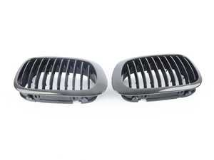 ES#3576901 - CFG460BYY - AutoCarbon Carbon Fiber Front Kidney Grilles   Front Grille Pair For E46 Coupe 2000-2003 & M3 all years   Black Carbon Fiber - AutoCarbon -