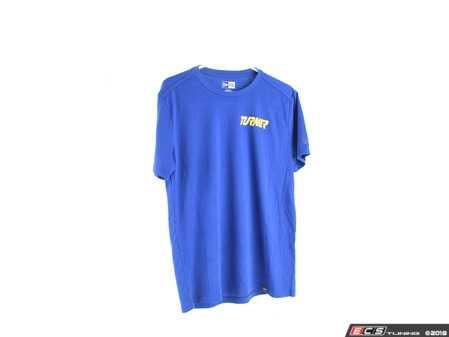 ES#3612234 - TMSNEA100RYLM - Blue With Yellow Turner Motorsport Short Sleeve T-Shirt - Medium - Turner Motorsport -