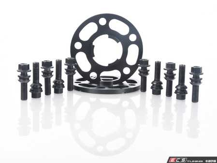 ES#3613673 - ls-1010mmKT -  Rennline Wheel Spacer Kit - 10mm  - Includes one pair of 10mm spacers and black zinc coated extended-length lug bolts for your Porsche - Rennline - Porsche