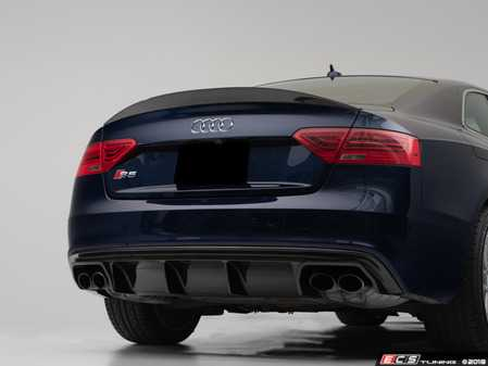 ES#3559286 - 017453ECS01 - Audi B8/8.5 A5/S5 Carbon Fiber Trunk Spoiler - Add a touch of style and real carbon fiber to your Audi - ECS - Audi