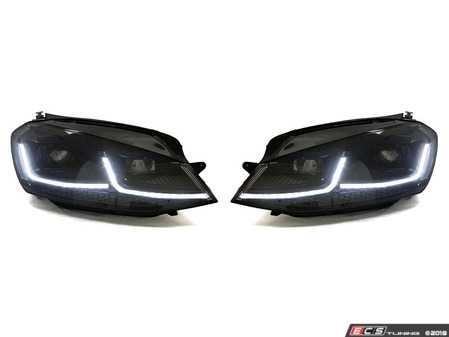 ES#3612277 - HVWG7HL-75B2 - MK7.5 Style Headlight Set - Black Trim - MK7.5 looks with MK7 fitment. Features switchback DRLs/sequential indicators. - Helix - Volkswagen