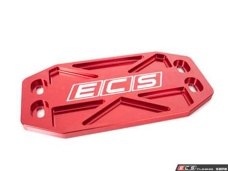 ES#3569141 - 023780ECS01-02 - Audi B8 Billet Tunnel Brace - Red - Replace your small and weak stamped brace with heavy-duty billet aluminum! - ECS - Audi