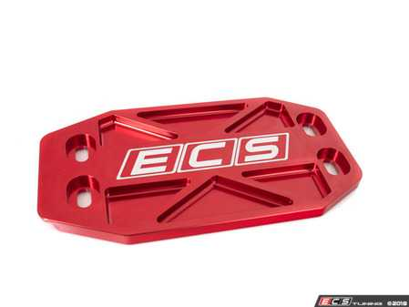 ES#3476942 - 023781ECS01-02 - Audi B9 Billet Tunnel Brace - Red - Replace your small and weak stamped brace with heavy-duty billet aluminum! - ECS - Audi