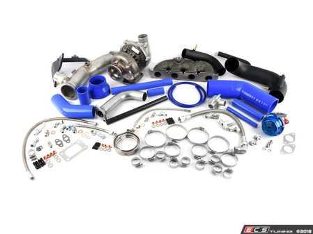 ES#3617518 - ATP-VVW-213B - ATP 450hp Turbo Kit  - Externally Wastegated 450hp Turbo Kit - Blue Wastegate / Blue Hoses - ATP - Audi