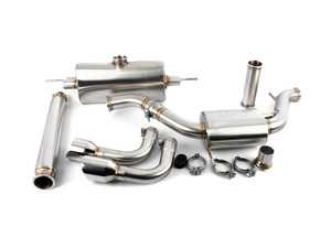"ES#3411903 - L720S - Cat-Back Exhaust System - 3"" Stainless Steel construction with v-band connections - LEYO - Volkswagen"