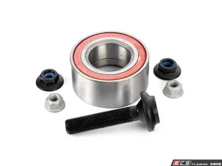 ES#3245881 - 4b0498625aKT3 - Front Wheel Bearing Kit - Pair (82MM) - Includes both bearings, axle bolts, and self locking nuts - Febi - Audi Volkswagen