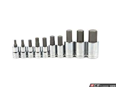 """ES#2934926 - KDT80578 - 10 Pc. 3/8"""" and 1/2"""" Drive Metric Hex Bit Socket Set - Add the Set to your tool box - Gear Wrench - Audi BMW Volkswagen Mercedes Benz MINI Porsche"""