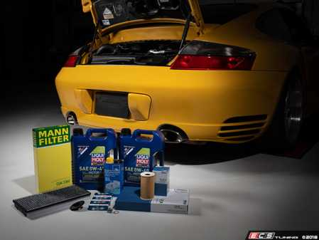 ES#3614140 - 996turbo30kKT - 996 Turbo 30K Service Kit with Liqui Moly 0W-40 - All that is needed to service your 996 Turbo just like the Dealer - Assembled By ECS - Porsche