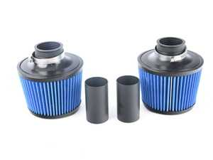 ES#3603606 - BMS-N54-DCI-B - Performance Dual Cone Intake - Blue - Replace your restrictive air box with these dual high flow cone filters for the highest possible air flow! - Burger Motorsports - BMW
