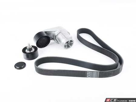 ES#3160979 - 11287628661KT - Accessory Belt Service kit  - Includes belt, tensioner and idler pulley - Assembled By ECS - BMW