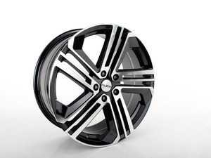 "ES#3619050 - 668-2KT - 19"" Style 668 Wheels - Set Of Four - 19""x8.0"" ET45 5x112 - Black/Machine Face - Alzor - Audi Volkswagen"