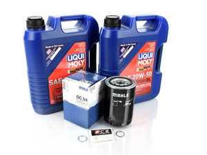 ES#3618446 - 93010776401PE3KT - Air-Cooled 911 Oil Change Kit 20w-50 - Featuring Mahle OC54 Oil Filter and Liqui-Moly 20w-50 Touring High Tech Mineral Oil - Liqui-Moly - Porsche