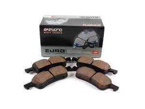 ES#2003696 - 34216762871 - Rear Euro Ceramic Brake Pad Set EUR1060 - Restore the stopping power in your MINI - With Shims - Akebono - MINI