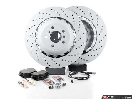 ES#3241174 - f10oerrpsKT - Rear Brake Service Kit - Everything you need to service your rear brakes in one kit. Includes OEM Zimmermann rotors and OE Pagid pads for a factory braking experience. - Assembled By ECS - BMW