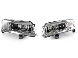 ES#1905761 - 4F0941029DD - RS6 HID Headlight W/ LED Daytime Running Light Bars - Set - Update the look of your A6 with one of the best looking headlights available! - Genuine European Volkswagen Audi - Audi