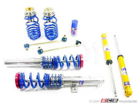 ES#240599 - FKXVW12 - Silverline Coilover System - Non-Adjustable Shocks - Corrosion resistant bodies for your Mk5 R32, Height adjustment from 30-60mm's. - FK -