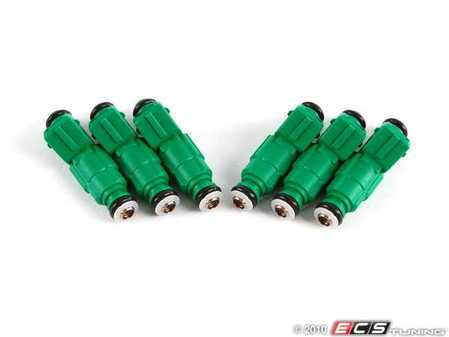 ES#1895511 - 0280155968 - 440cc Fuel Injectors - Set Of Six - A drop-in injector commonly referred to as 'Green Giants' - Bosch - Audi