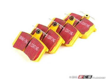 ES#521054 - DP4370R - Rear YellowStuff Performance Brake Pad Set - Race quailty pad that can be used at the track then back home. - EBC - Audi