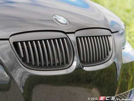 ES#518034 - BM01-9201-B - Blackout Grille Set - Matte Black - Add style and individuality to your BMW in minutes! - ECS - BMW