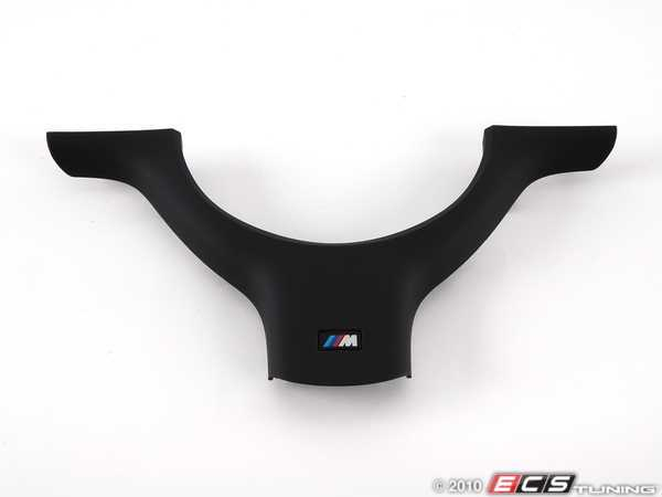 ES#54047 - 32347833355 - Lower Steering Wheel Cover - Schwarz softlack (rubberized) finish with M logo - Genuine BMW - BMW
