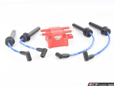 ES#3521481 - 82393ktKT - MSD / NGK Performance Coil Pack / Blue Wire Set - Includes performance wires from NGK and MSD Performance Red Coil pack - Assembled By ECS - MINI