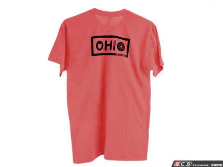 ES#3612357 - OH-NL-RED-S - Red OHIO Design T-Shirt - Small - Featuring black ECS Tuning logo on left chest and ECS's signature OHIO logo on back - ECS - Audi BMW Volkswagen Mercedes Benz MINI Porsche